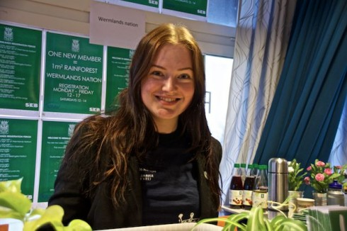 Sofia Sundkvist, Wermlands nation; serving up healthy delights for the newly arrived students
