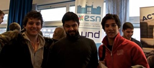 ESN Lund representanten Kiril Nikolov med Gonzalo Martos och Jose Pérez Ballester från Argentina.