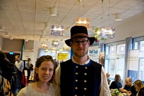 Det fanns även möjlighet att lära sig mer om svensk folkmusik. Foto: Jens Hansen