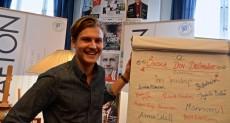 Casper Törnblom, förman för Studentafton. Foto: Jens Hansen