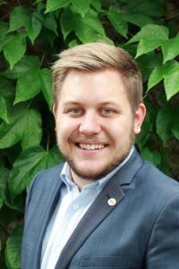 Sebastian Persson är vice ordförande för Samhällsvetarkåren. Foto: Privat