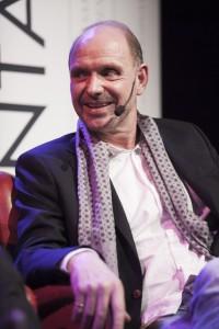 Thomas Ravelli var på särskilt gott humör och skämtade friskt. Foto: Jens Hunt