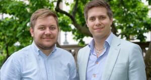 Sebastian Persson är vice ordförande för Lunds universitets studentkårer och Oskar Styf är ordförande för Lunds universitets studentkårer. Foto: Jonas Jacobson.