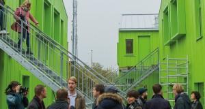 Ett av AF Bostäders senaste boprojekt Bokompakt, där det bland annat har tummats på tillgängligheten. Foto: Arkiv/Jens Hunt.