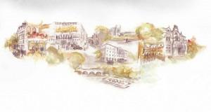 Sällskapsresan – Hur universitetets mäktigaste lade skattepengar på stjärnkrogar. Illustration: Cecilia Hansson