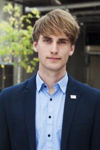 Johan Alvfors är vice ordförande för Sveriges förenade studentkårer.  Foto: Press/SFS