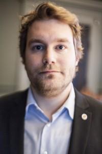 Ludvig Sundin, studentrepresentant. Foto: Arkiv/Jens Hunt.