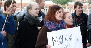 Det danska förslaget mötte genast högljudda protester från studenterna. Foto: Universitetsavisen.