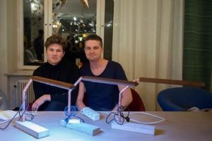 Edwin Modin och Sebatian Wicksell.  Foto: Jonas Jacobson