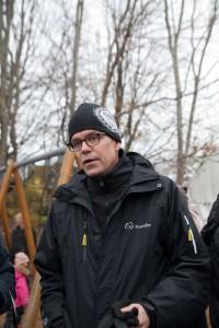Henrik Krantz är VD för AF Bostäder. Foto från när bostadsområdet Vegalyckan började byggas. Foto: Carl-Johan Kullving