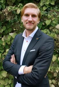 Felix Blanke, vice ordförande för Lundaekonomerna. Foto: Lundaekonomerna
