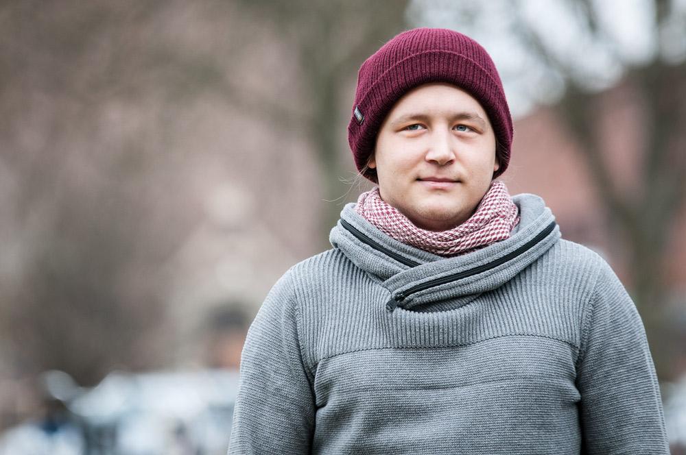 Timmy Larsson är Piratpartiets toppnamn i Lund. I flera studentområdens valkretsar fick partiet tio gånger fler röster jämfört med riket i stort. Foto: Lukas J. Herbers.