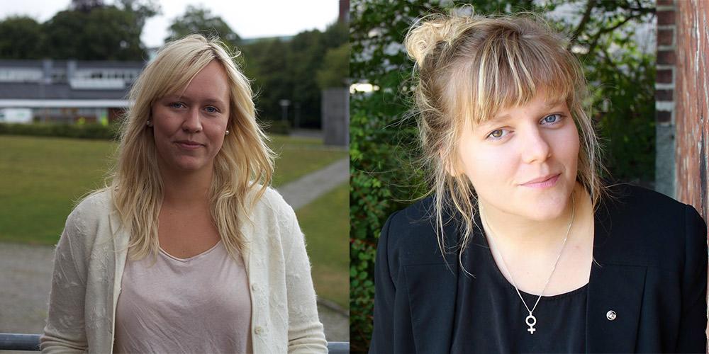 Cecilia Skoug och Linnea Jacobsson är valda till Lunds universitets studentkårers presidium. Bilden är ett montage. Foto: Arkiv/Privat