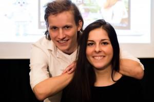 Tim van Dijk och Caroline Mensch. Foto: Simon Cesarini