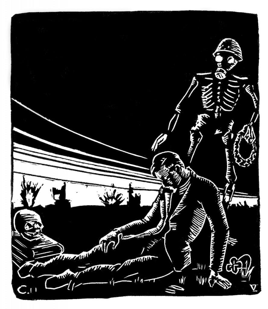Illustration: Holger Charpentier. Från Lundagård 8/1939