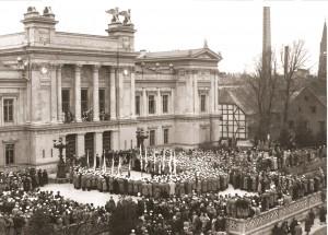 Rektorsuppvaktningen 1937.  Foto: AF:s arkiv