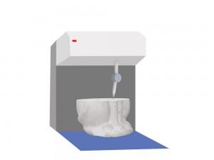 3: En plasttråd värms upp till mellan 180 och 230 grader. Sedan matas den ut till skrivarhuvudet.