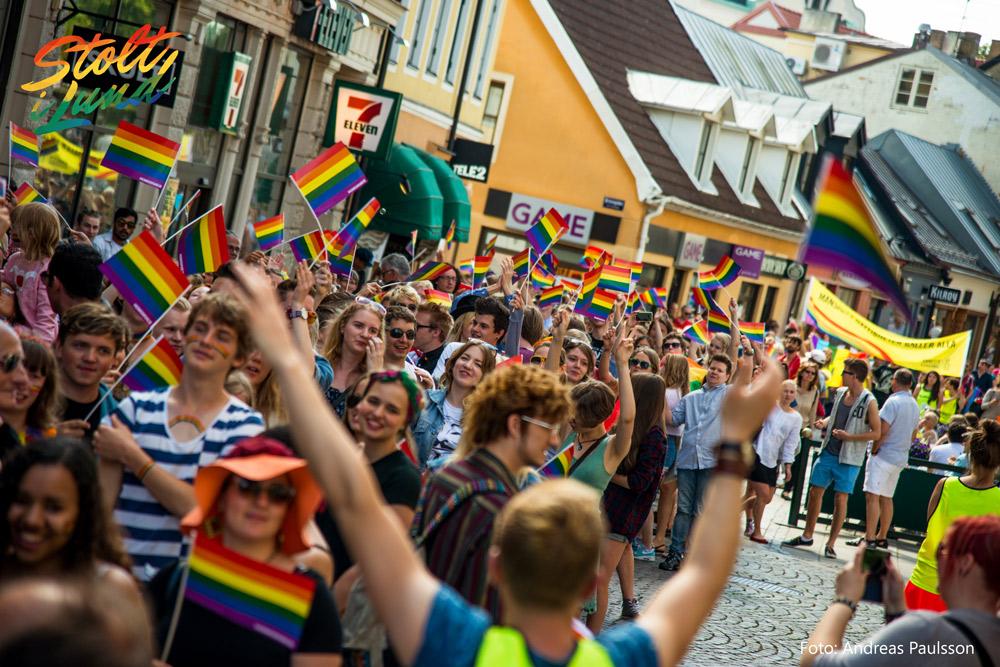 Bild från tidigare Pride-parad i Lund. Foto: Press/Andreas Paulsson
