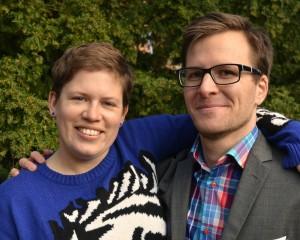 Projektledarna Matilda Nilsson och Albin Junhede är laddade för lördagens Pride-firande i Lund. Foto: Press