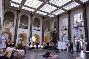 I februari ockuperades humaniorafakultetens huvudbyggnad. Den ockupationen avbröts efter tio dagar då polis ingrep och arresterade 48 studenter. Foto: Søren Steensig Jacobsen