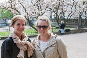 Studenterna Matilda Andersson och Hanna Christensen använder inte Jodel.