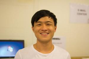 Beny Wuin från Singapore kom till Lund under tisdagen.