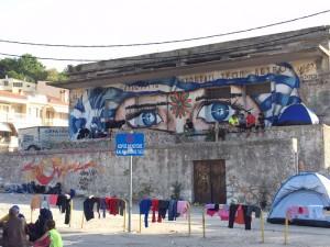 Bild på Lesbos hamn. Foto: Tindra Englund