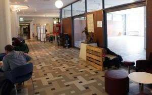 I Akademibokhandelns gamla lokaler kommer det att bli studieplatser. Foto: Casper Danielsson