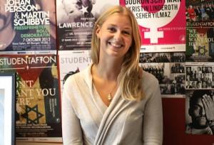 Hanna Westöö, förman för Studentafton. Foto: Eskil Blohmé