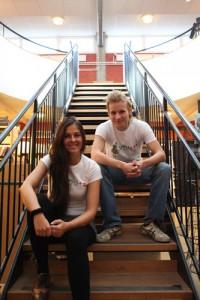 Tim von Dijk och Caroline Mensch. Foto: Claudio Gandra