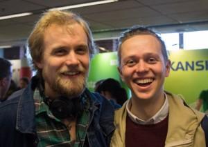 Patrik Gustafsson och Axel Ekman besökte mässan. Foto: Claudio Gandra