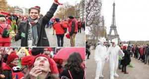 Den sista dagen av Klimattoppmötet gav sig över tio tusen människor ut på gatorna för att visa att klimatet är en viktig politisk fråga. Foto: Tindra Englund