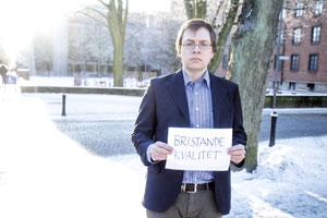 Tobias Hägerland, studierektor vid centrum för teologi och religionsvetennskap vid Lunds universitet, är skeptisk till det nya utvärderingssystemet. Bland annat är han orolig att kvalitetsutvärderingen kommer att ske på för långt avstånd från lärare och studenter. Foto: Christina Zhou