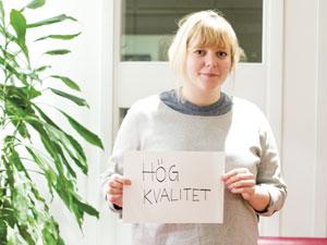 Linnéa Jacobsson, vice ordförande för Lunds universitets studentkårer, ser överlag positivt på det nya utvärderingssystemet. Bland annat tycker hon att det är bra att man nu kommer arbeta mer med att utvärdera jämställdhet och breddad rekrytering. Foto: Christina Zhou
