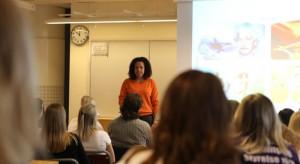 Elaine Eksvärds föreläsning under Agoradagen. Foto: Robert Söderqvist