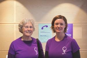 Volontärer från Kvinnojouren Lund. Foto: Claudio Gandra