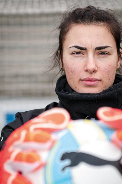 Zecira Musovic kombinerar sina ekonomistudier med att spela fotboll i FC Rosengård. Foto: Lukas J. Herbers