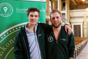 Jonas Tayli tillsammans med Kristian Kekonius vice projektledare för Entrepreneurship Committee. Foto: Press