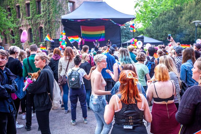 Foto från festivalen Lundapride 2016. Foto: Christina Zhou