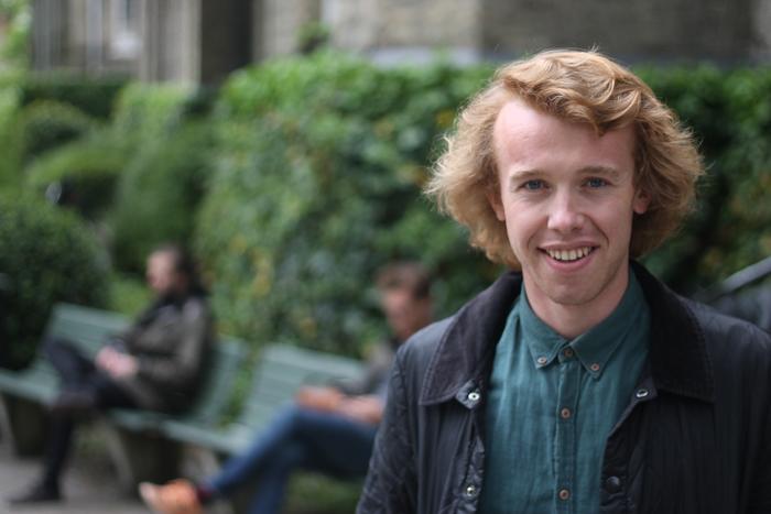 Birrten Michael Igoe är orolig för sin framtid vid Lunds universitet. Foto: Kevin Witzenberger