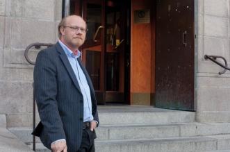 Sverker Jönsson tyckte inte att Juridicum skulle ta emot Jas-studenterna. Foto: Virve Ivarsson.