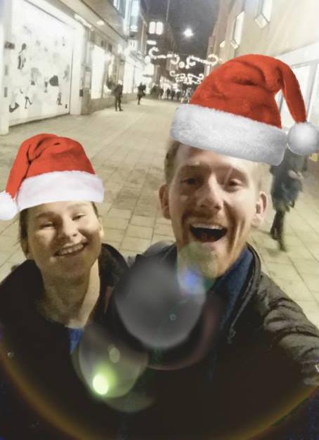 I-sektionens ordförande och vice ordförande: Anton Lundqvist och Ingrid Arvidsson. Foto: Privat.