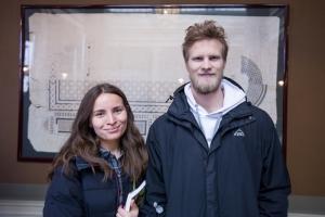 Sevgo Emin och Björn A. Söderström. Foto: Christina Zhou.