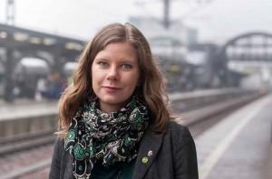 Miljöpartisten Emma Berginger, vice ordförande i kommunstyrelsen. Foto: Pressbild.