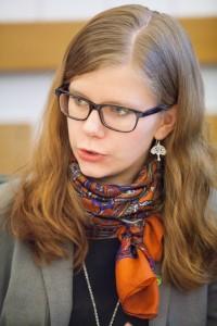 Emma Berginger från Miljöpartiet är beredd att utöka dialogen med AFB och LKF för att se till att fler bostäder byggs. Foto: Kalandranis Dimitris