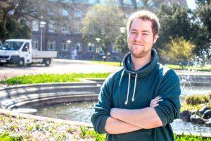 Jack Senften är i dag vice ordförande för Samhällsvetarkåren. Foto: Christina Zhou